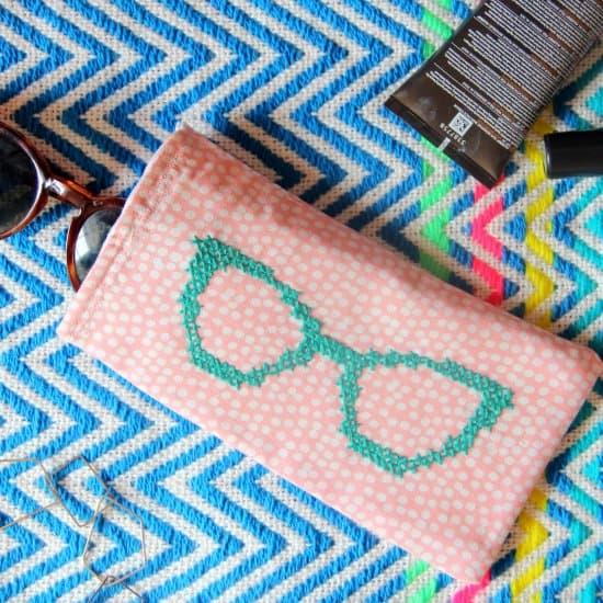 Cross Stitch Sunglass Case