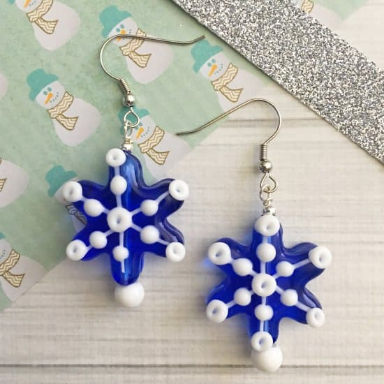 DIY Snowflake Earrings