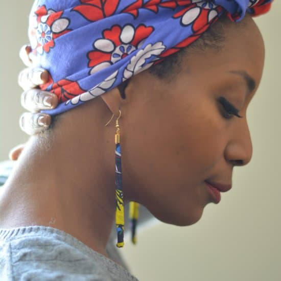 Fabric Bead Earrings