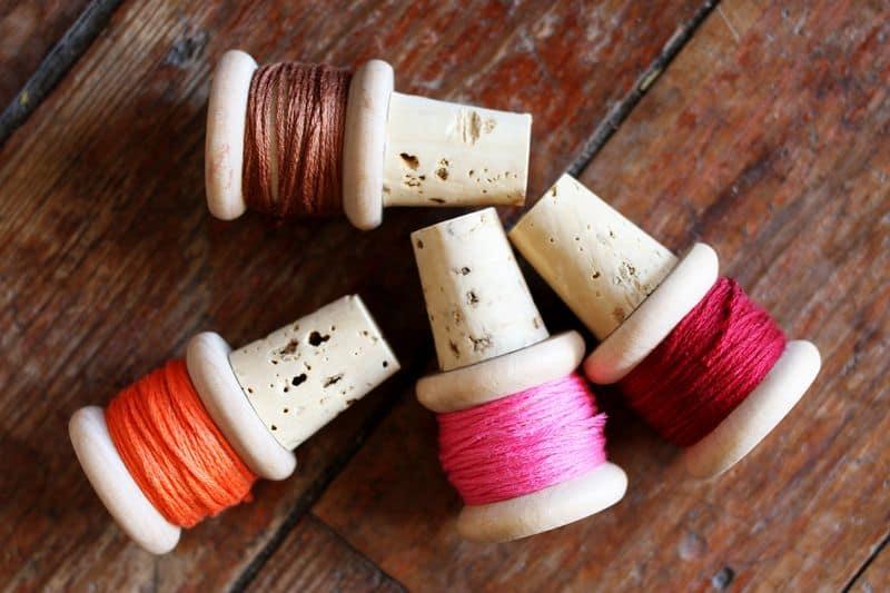 Thread Spool Wine Corks