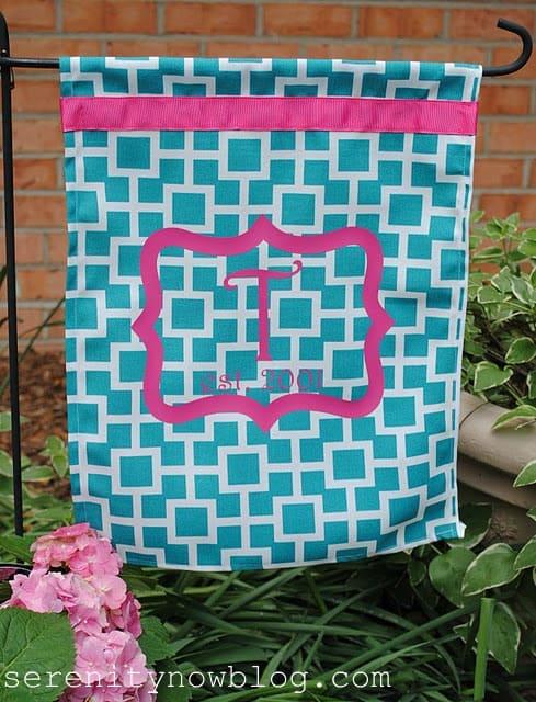 DIY Monogram Garden Flag