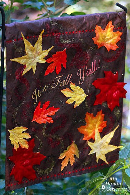 DIY Fall Leaves Garden Flag