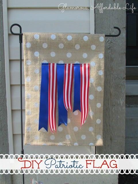 DIY Red, White & Blue Garden Flag