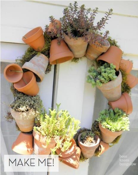 DIY Terra Cotta Wreath