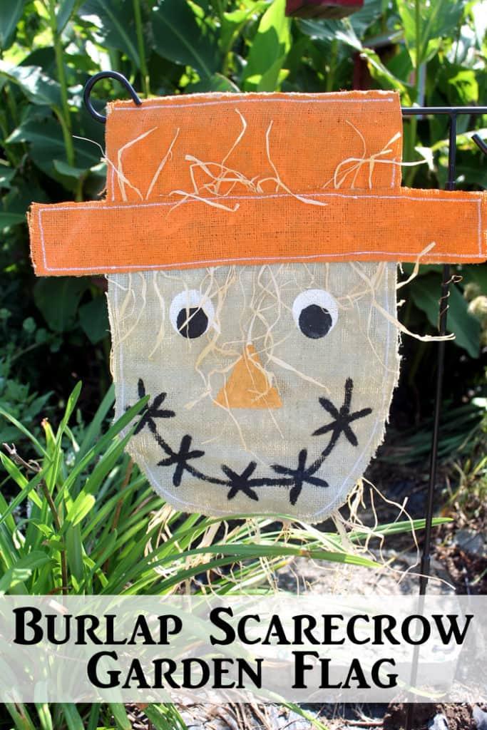 Burlap Scarecrow Garden Flag