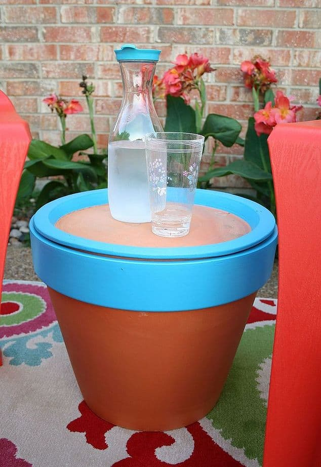 Terra Cotta Pot Table