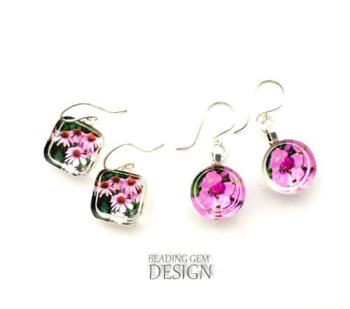 Photo Resin Earrings