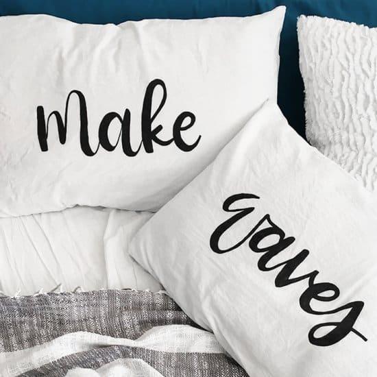 Brush Lettering Pillows
