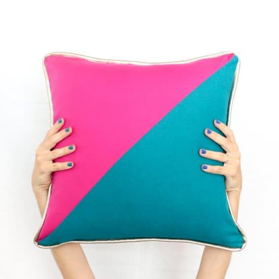 DIY Color Blocked Pillows