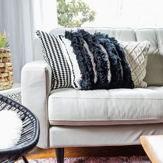 Textured Woven Pillow