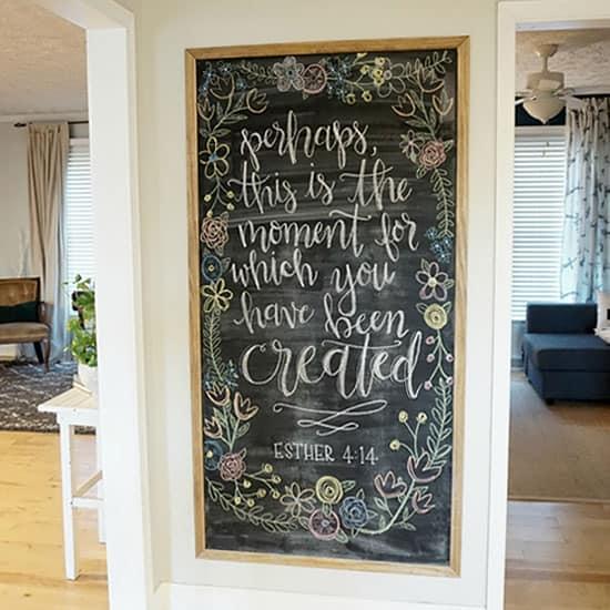 Large Framed Magnetic Chalk Board
