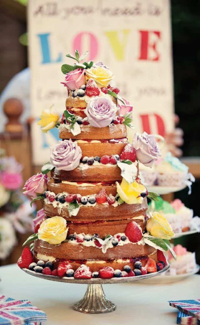 Floral Flourishes Wedding Cake