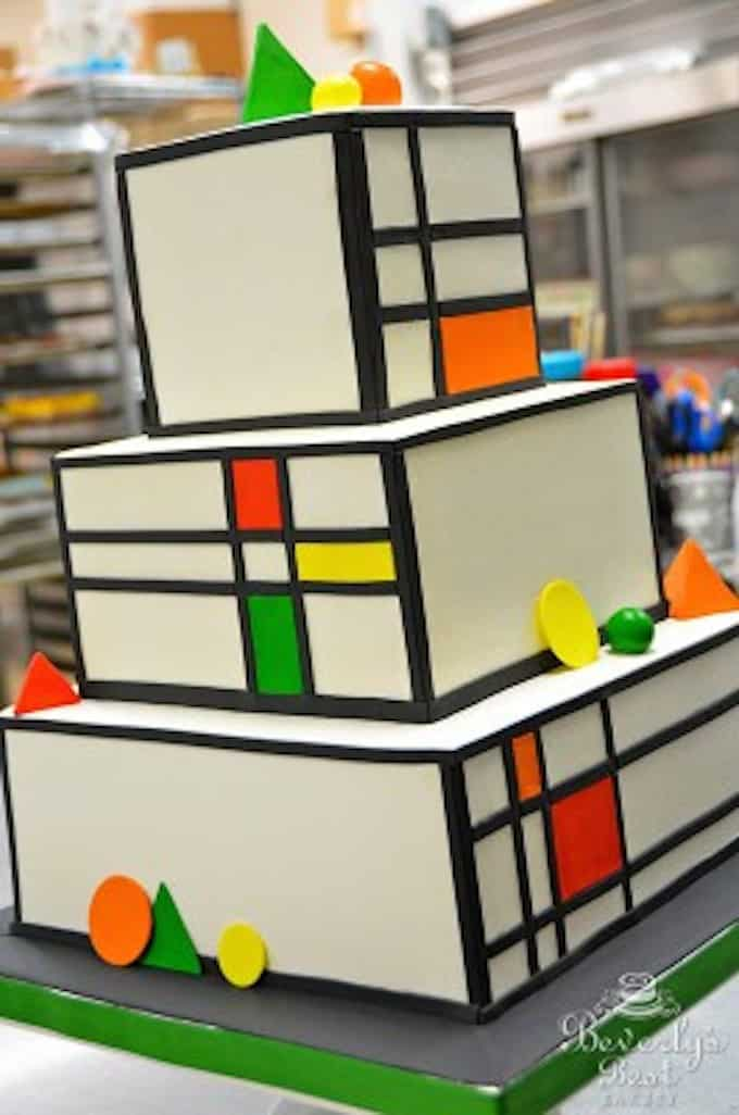 Piet Mondrian Wedding Cake