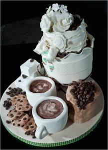 Starbucks wedding cake
