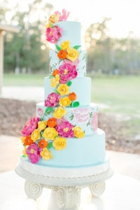 country chic wedding cake
