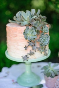 desert romance wedding cake