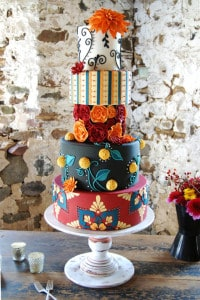 enchanting and whimsical wedding cake