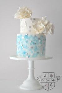 frozen movie wedding cake