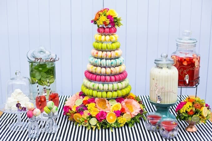 macaroon wedding tower