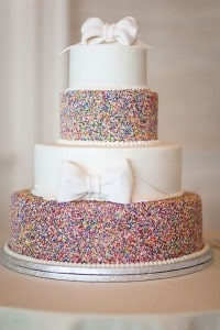 wedding cake with sprinkles