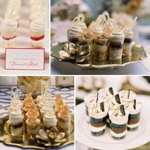 wedding dessert shooters