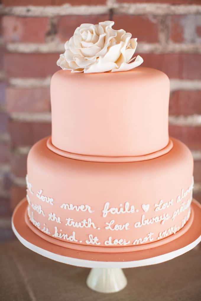 wedding vows on cake