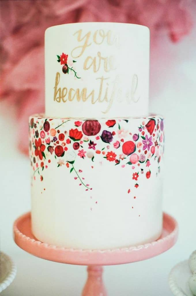 you are beautiful wedding cake