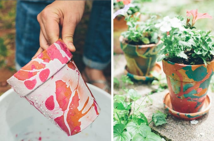 diy planters with nail polish