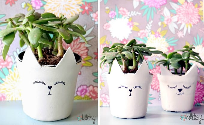 cat planters & 60 Creative DIY Planters You\u0027ll Love For Your Home \u2022 Cool Crafts