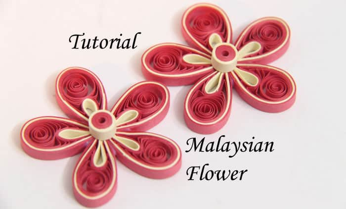 paper malaysian flowers