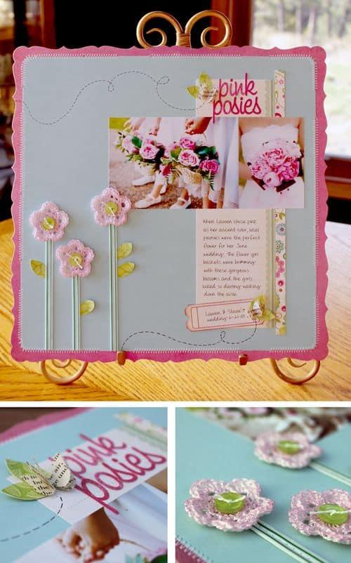 5-petal crochet flowers