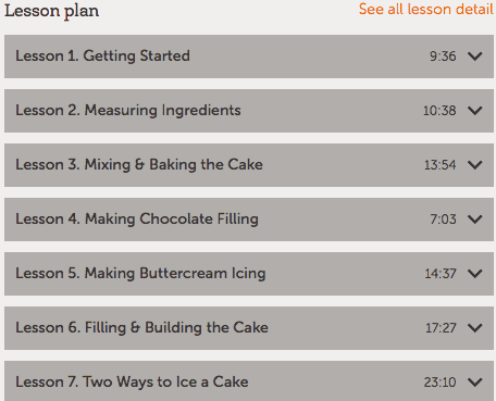 Wilton Method Baking Basics lesson plan