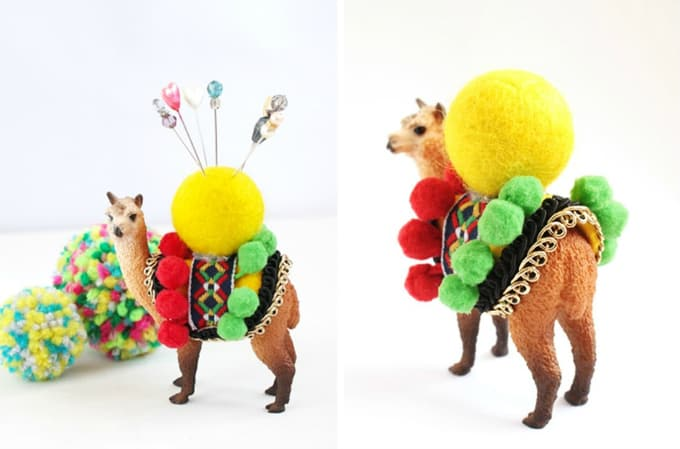 pom pom pin cushion