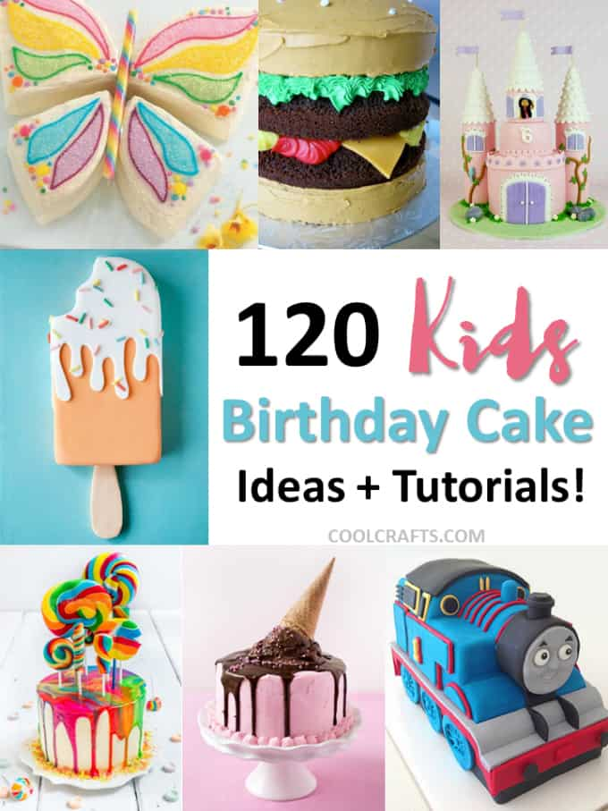 Enjoyable Kids Birthday Cakes 120 Ideas Designs Recipes Birthday Cards Printable Trancafe Filternl