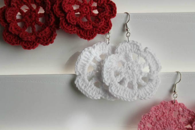 doily earrings