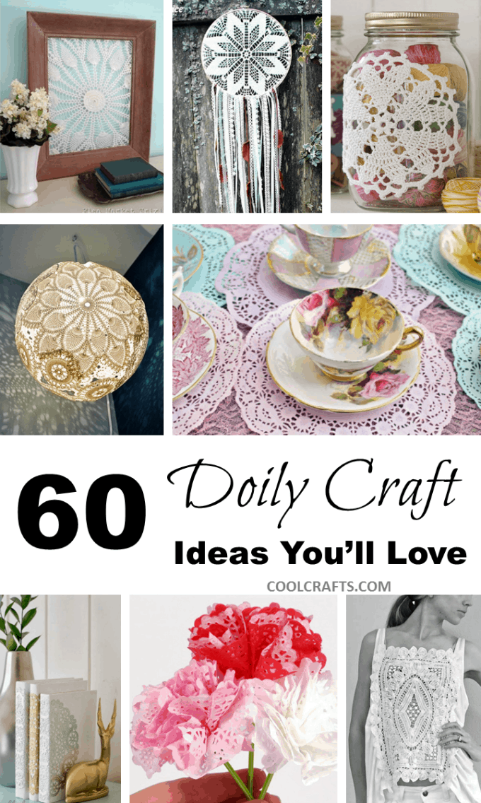 60 Diy Fabric Paper Doily Crafts