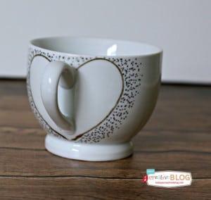 Confetti Painted Heart Mugs
