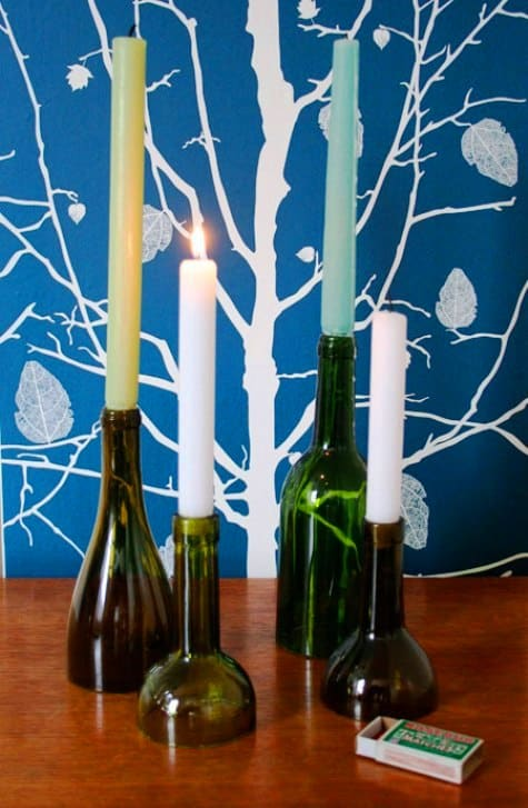 wine bottle Candlestick Holder