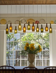 wine bottle Hanging Light Fixture