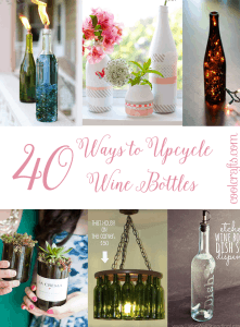 40 Ways to Upcycle Wine Bottles - Coolcrafts.com