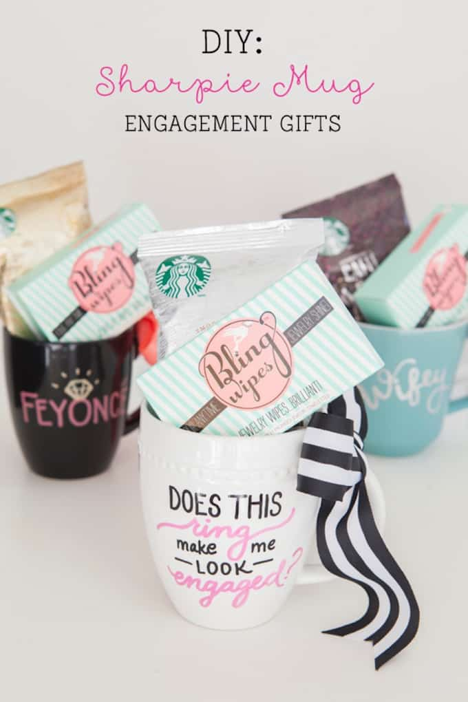 Sharpie Mug Engagement Gifts