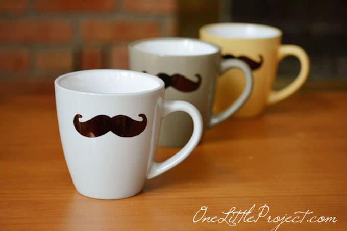 Sharpie Mustache Mugs