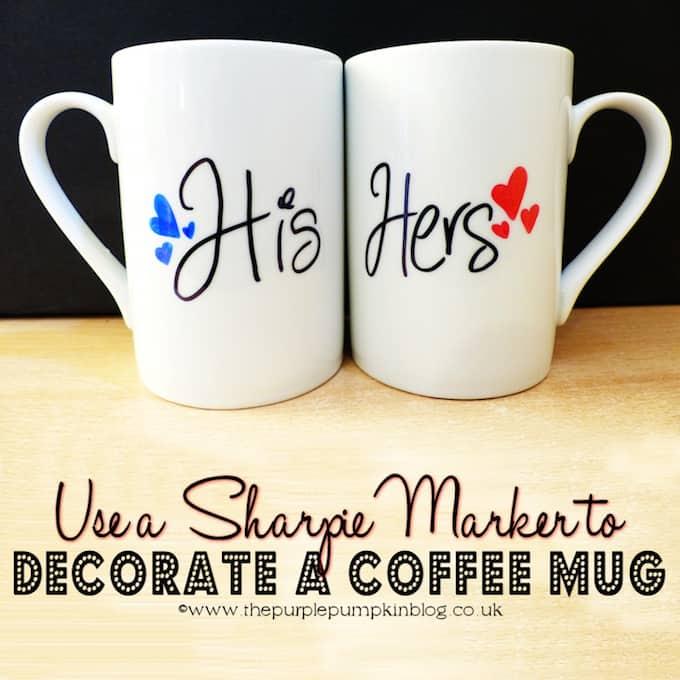 Coffee Mug With Sharpie