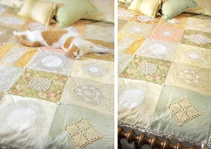vintage doily quilt