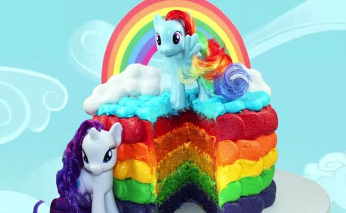 My Little Pony rainbow cake