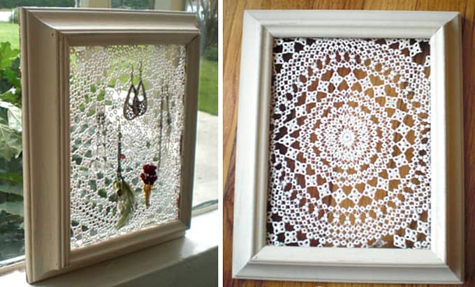 doily picture frame