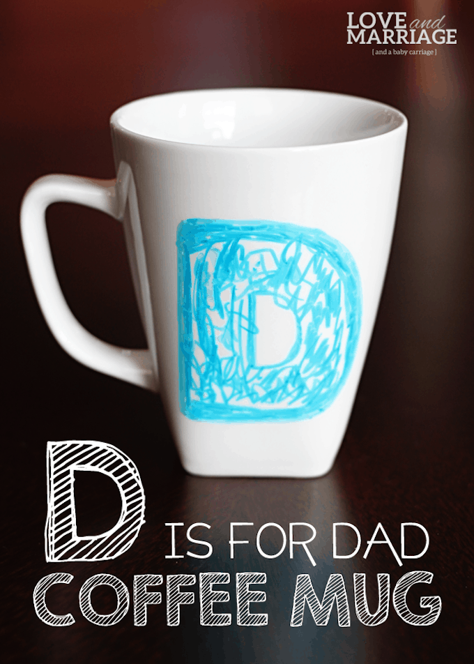 fathers day sharpie mug