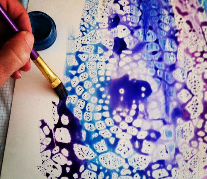 doily painting template