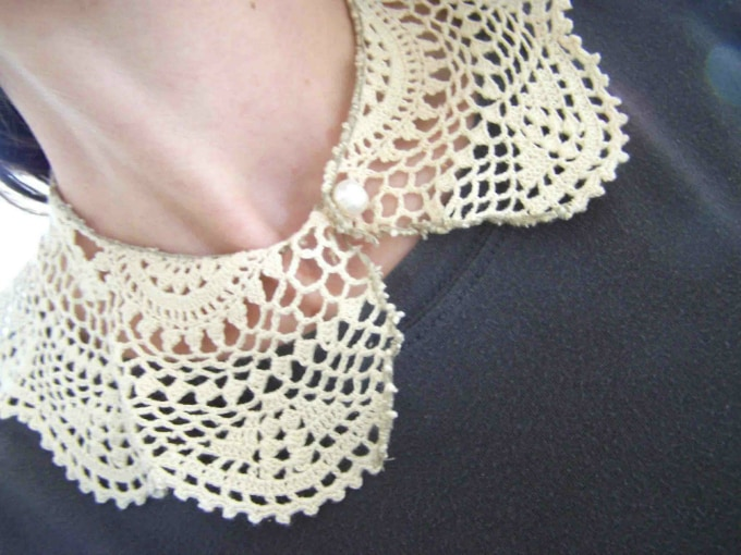 doily vintage lace collar