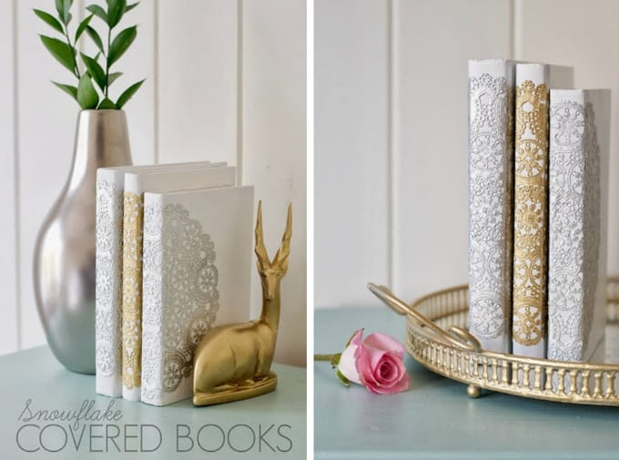 doily book covers